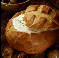 Clam Chowder Bread Bowl at Old Fisherman's Grotto