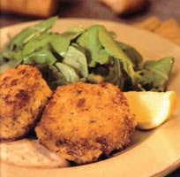 Crab Cakes at Old Fisherman's Grotto